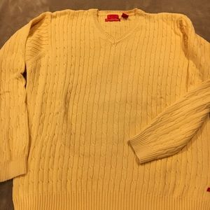 Cotton cashmere v neck